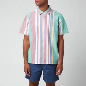 Polo Ralph Lauren Men's Oxford Short Sleeve Stripe Shirt - Green/Red Multi