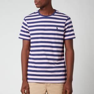 Polo Ralph Lauren Men's Jersey Stripe T-Shirt - Boathouse Navy/Garden Pink