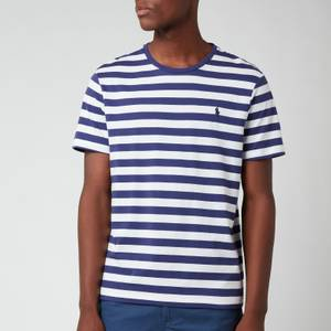 Polo Ralph Lauren Men's Jersey Stripe T-Shirt - Boathouse Navy/White