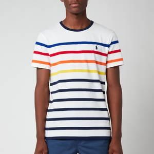 Polo Ralph Lauren Men's Multi Stripe T-Shirt - White Multi