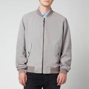 Polo Ralph Lauren Men's Suede Bomber Jacket - Athletic Grey