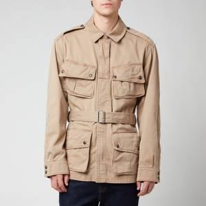 Polo Ralph Lauren Men's Cotton Twill Paratrooper Jacket - Desert Khaki