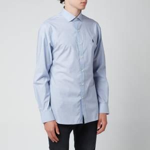 Polo Ralph Lauren Men's Slim Fit Poplin Shirt - Light Blue/White