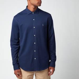 Polo Ralph Lauren Men's Custom Fit Mesh Oxford Shirt - Newport Navy
