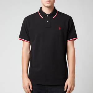 Polo Ralph Lauren Men's Mesh Tipped Polo Shirt - Polo Black