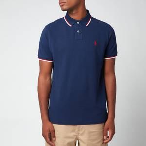 Polo Ralph Lauren Men's Mesh Tipped Polo Shirt - Newport Navy