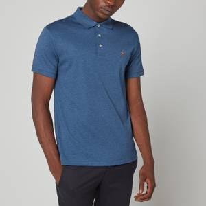 Polo Ralph Lauren Men's Slim Fit Soft Cotton Polo Shirt - Derby Blue Heather