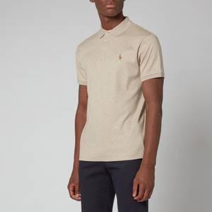 Polo Ralph Lauren Men's Slim Fit Soft Cotton Polo Shirt - Tuscan Beige Heather