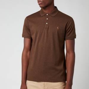 Polo Ralph Lauren Men's Slim Fit Soft Cotton Polo Shirt - Nutmeg Brown Heather