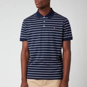 Polo Ralph Lauren Men's Pima Stripe Polo Shirt - French Navy/White