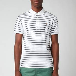 Polo Ralph Lauren Men's Pima Stripe Polo Shirt - White/French Navy