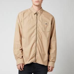Polo Ralph Lauren Men's Custom Fit Garment Dyed Zipped Shirt - Surrey Tan
