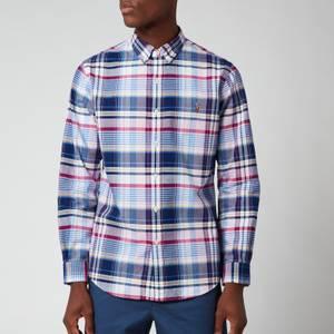 Polo Ralph Lauren Men's Slim Fit Yard Dyed Oxford Check Shirt - Pink/Blue Multi