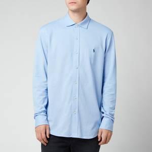 Polo Ralph Lauren Men's Custom Fit Mesh Oxford Shirt - Harbour Island Blue