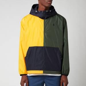 Polo Ralph Lauren Men's Eastport Pullover Jacket - Army/Slicker Yellow
