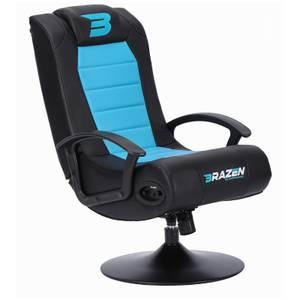BraZen Stag 2.1 Bluetooth Surround Sound Gaming Chair - Blue