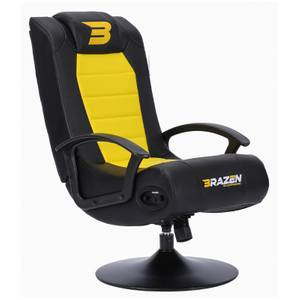 BraZen Stag 2.1 Bluetooth Surround Sound Gaming Chair - Yellow