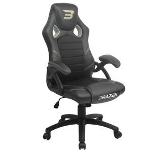 BraZen Puma PC Gaming Chair - Grey