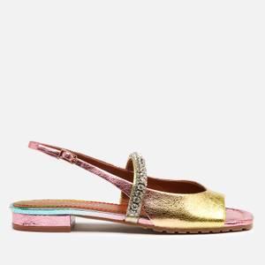 Kurt Geiger London Women's Princeley Leather Sandals - Pink Comb