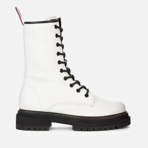 Kurt Geiger London Women's Birdie Leather Lace Up Boots - White