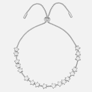Estella Bartlett Women's Stars So Bright Chain Slider - Silver Plated