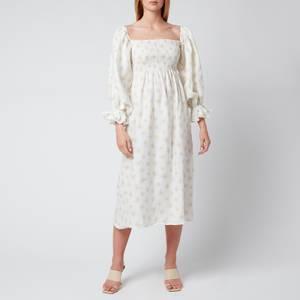 Sleeper Women's Atlanta Linen Dress - White & Yellow