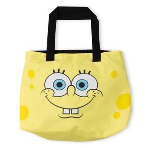 Spongebob Squarepants Face Pattern Tote Bag