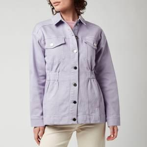 Ted Baker Women's Sofiaz Oversized Denim Jacket With Elastic Waist - Lilac