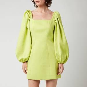 Ted Baker Women's Disina Mini Jacquard Exaggerated Sleeve Dress - Light Yellow