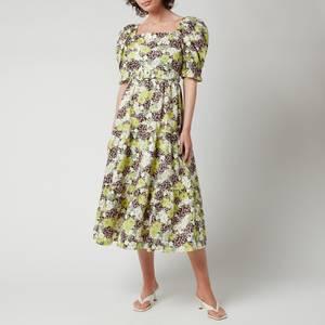 Ted Baker Women's Maysiie Puff Sleeve Tiered Midi Dress - Dark Green