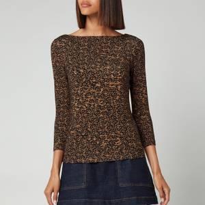 Ted Baker Women's Mairii Half Sleeve Jersey T-Shirt - Light Brown