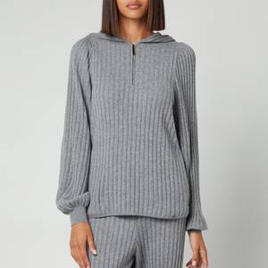 Ted Baker Women's Shaney Ribbed Lounge Hoodie - Grey