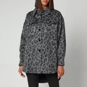 Ted Baker Women's Ebrill Oversized Animal Jacquard Shacket - Dark Grey