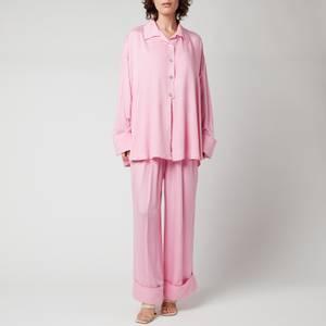 Sleeper Women's Sizeless Viscose Pajama Set - Pink