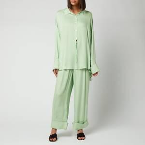 Sleeper Women's Sizeless Viscose Pajama Set - Green