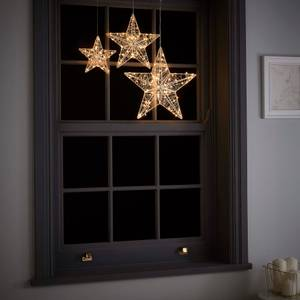 Twinkling Star Wire Christmas Lights - Set of 3