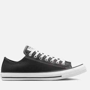 Converse Men's Chuck Taylor All Star Seasonal Leather Ox Trainers - Storm Wind/White/Black