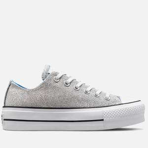 Converse Women's Chuck Taylor All Star Hybrid Shine Lift Ox Trainers - Silver/University Blue/White