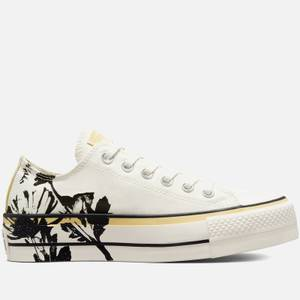 Converse Women's Chuck Taylor All Star Hybrid Floral Lift Ox Trainers - Egret/Saturn Gold/Black