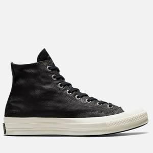 Converse Chuck 70 Seasonal Elevated Leather Hi-Top Trainers - Black/Egret/Egret