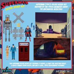 Mezco The Superman (1941): The Mechanical Monsters 5 Points Deluxe Boxed Set