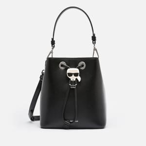 Karl Lagerfeld Women's K/Ikonik Bucket Bag - Black