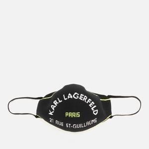KARL LAGERFELD Women's Rsg Knit Face Mask Line - Black