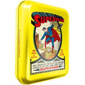 DC Superman Spielkarten & Dose in Gelb für Sammler