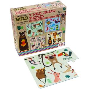 Shuffle - Into the Wild - 4 in 1 Jigsaw Puzzles
