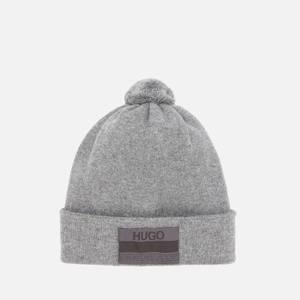 HUGO Men's X Logo Beanie - Medium Grey