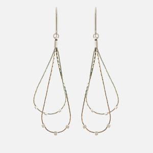 Isabel Marant Women's Crystal Fringe Earrings - Silver