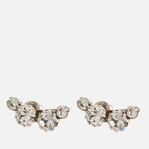 Isabel Marant Women's Crystal Stud Earrings - Silver
