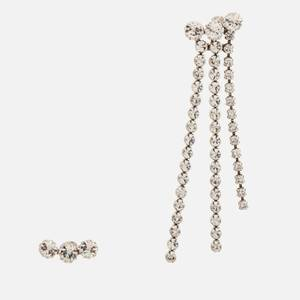 Isabel Marant Women's Mismatched Crystal Earrings - Silver