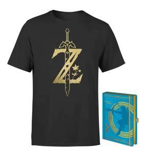 Pack Nintendo Legend Of Zelda Camiseta & Cuaderno